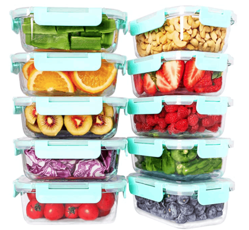 These glass containers are a must in every kitchen (minimalist or not) as it is extremely useful for food storage.