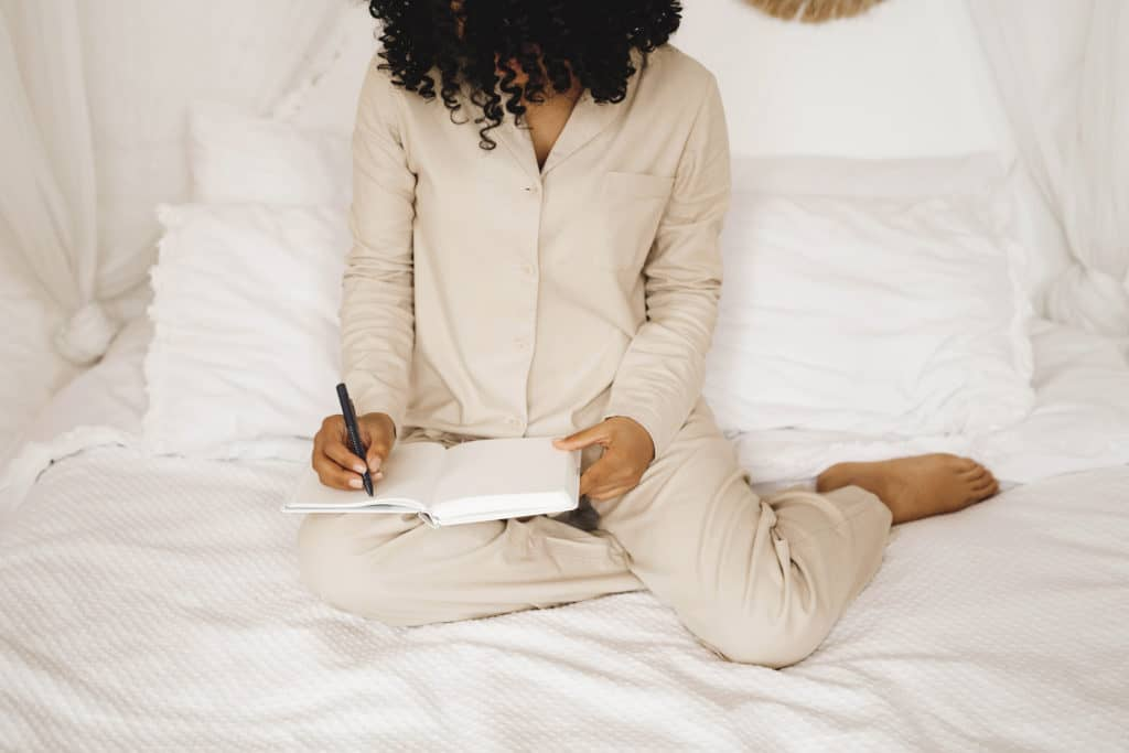 Writing helps you record your progress and get out whatever feelings are trapped inside